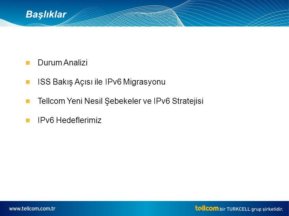 PosFlagCountryVAVP 37TRTurkey2170.07% Durum Analizi Geant (*) - Ulakbim IPv6 Bağlantısı Geant Network'u üzerindeki trafiğin yaklaşık sadece %1'i Ipv6 trafiği olarak anahtarlanmakta Kaynak:EU Advancing Internet Report May'08
