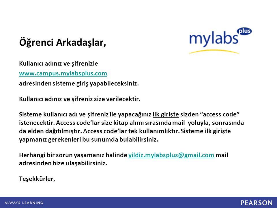 Mail adreslerinize gönderilen kullanıcı adı ve şifreleriniz ile giriş yapınız.