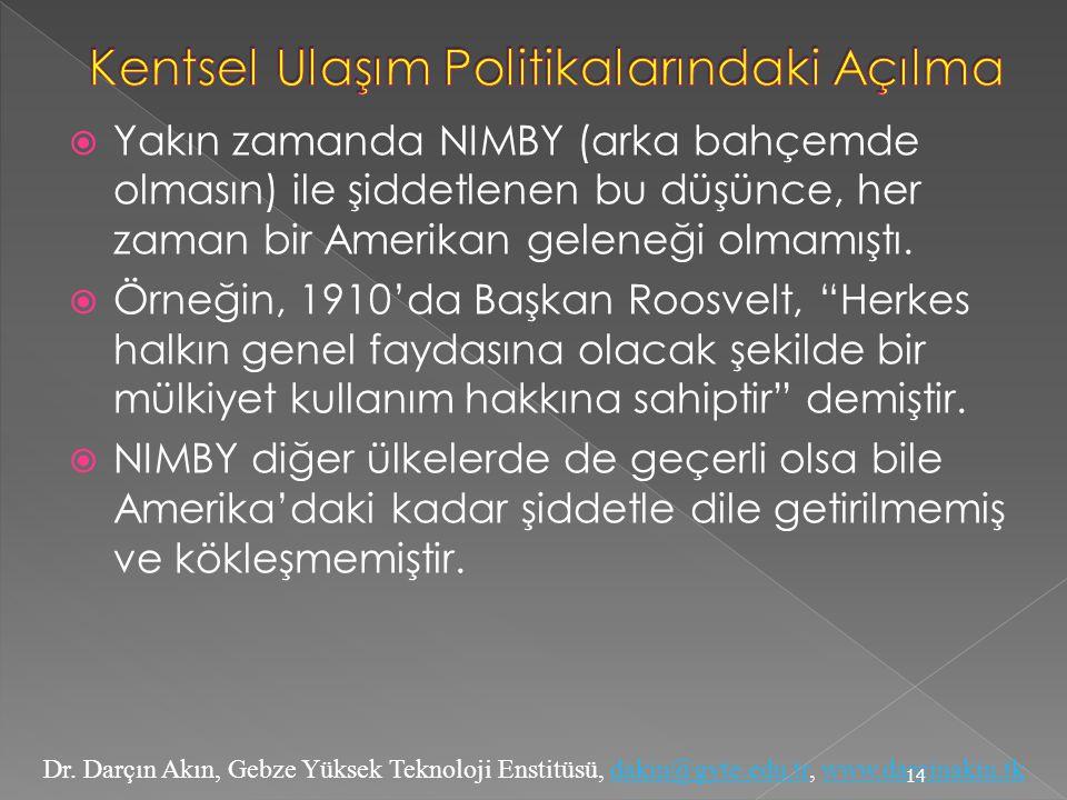Dr. Darçın Akın, Gebze Yüksek Teknoloji Enstitüsü, dakin@gyte.edu.tr, www.darcinakin.tkdakin@gyte.edu.trwww.darcinakin.tk  Yakın zamanda NIMBY (arka