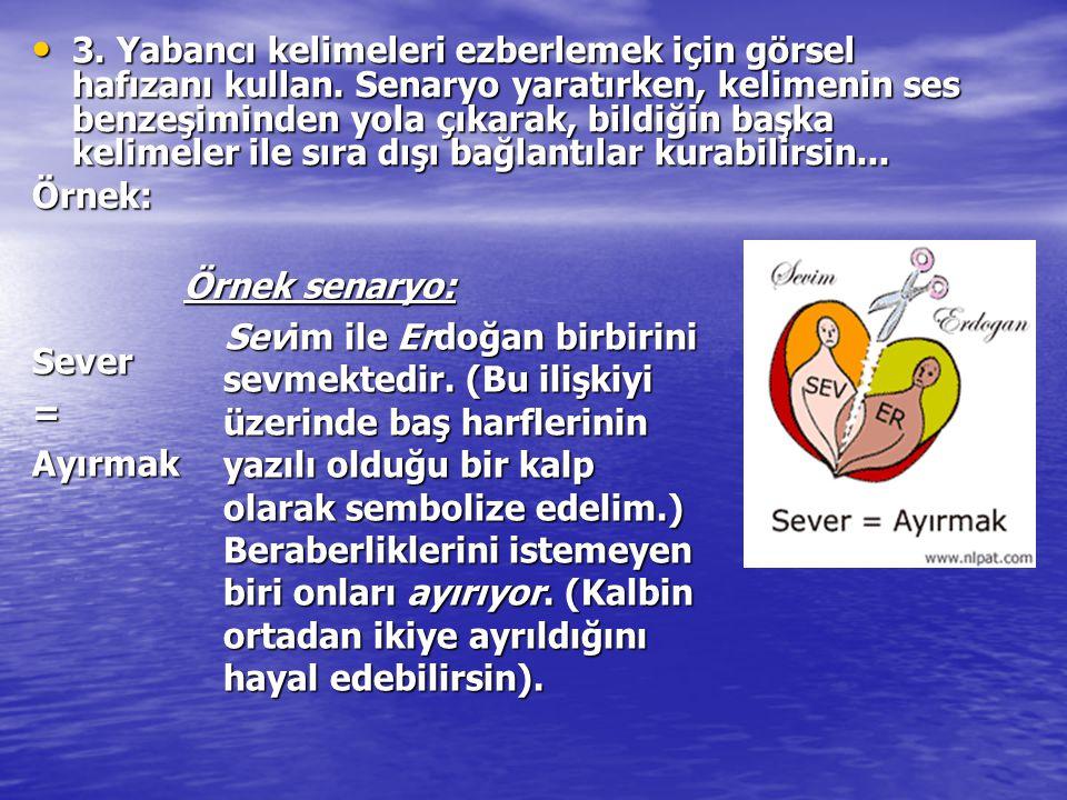 Örnek senaryo: Sevim ile Erdoğan birbirini sevmektedir. (Bu ilişkiyi üzerinde baş harflerinin yazılı olduğu bir kalp olarak sembolize edelim.) Beraber
