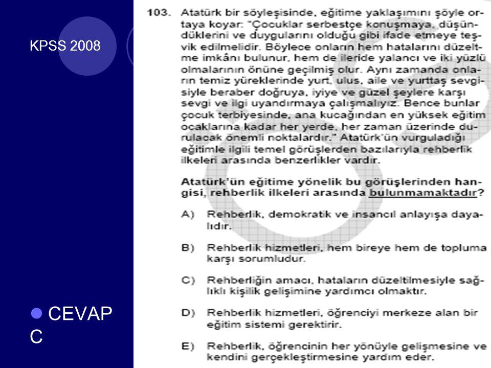 KPSS 2008 CEVAP C