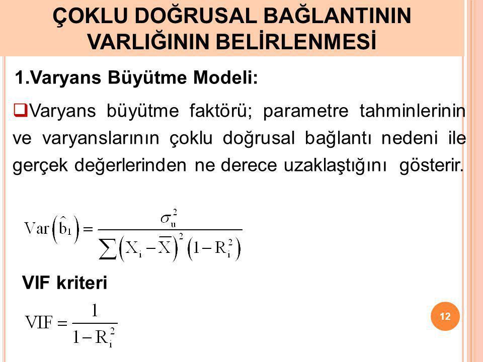 İkiden fazla bağımsız değişken olması durumunda kısmi korelasyon katsayıları kriterine de bakılmaktadır. Örneğin Y ile X 1, X 2, X 3 ve X 4 arasındaki