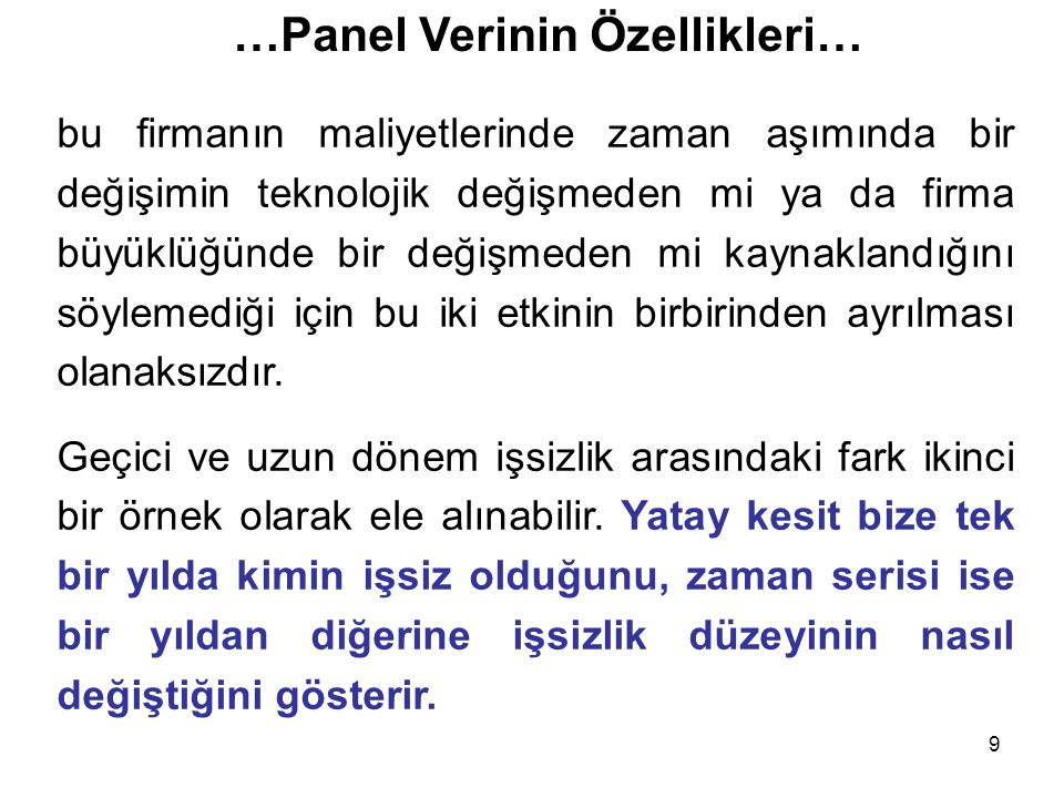 20 …Panel Verinin Genel Gösterimi… dir.