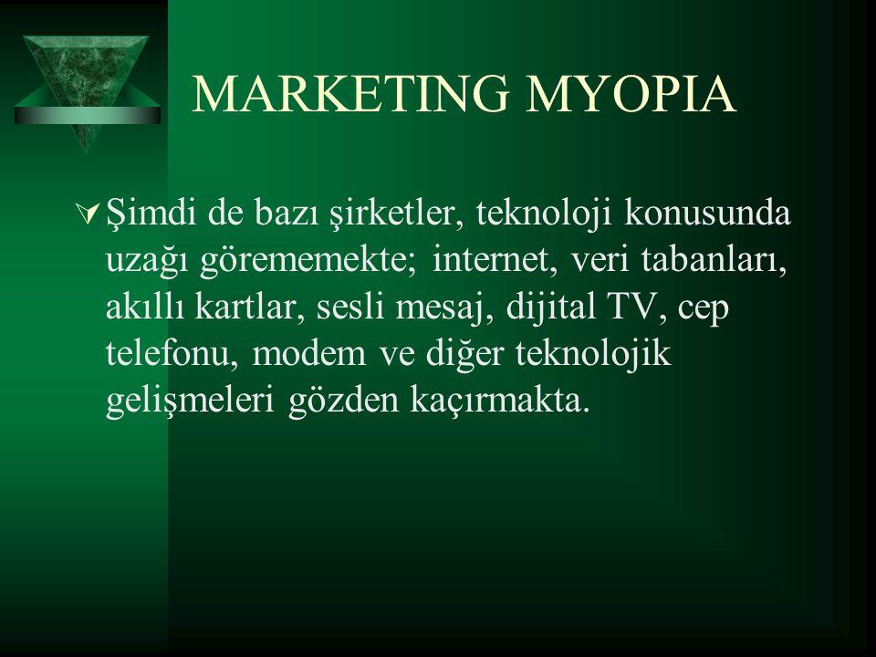 Pazarda miyopluk…  Teknoloji, pazarlama araştırmasının önemini azaltmaz.