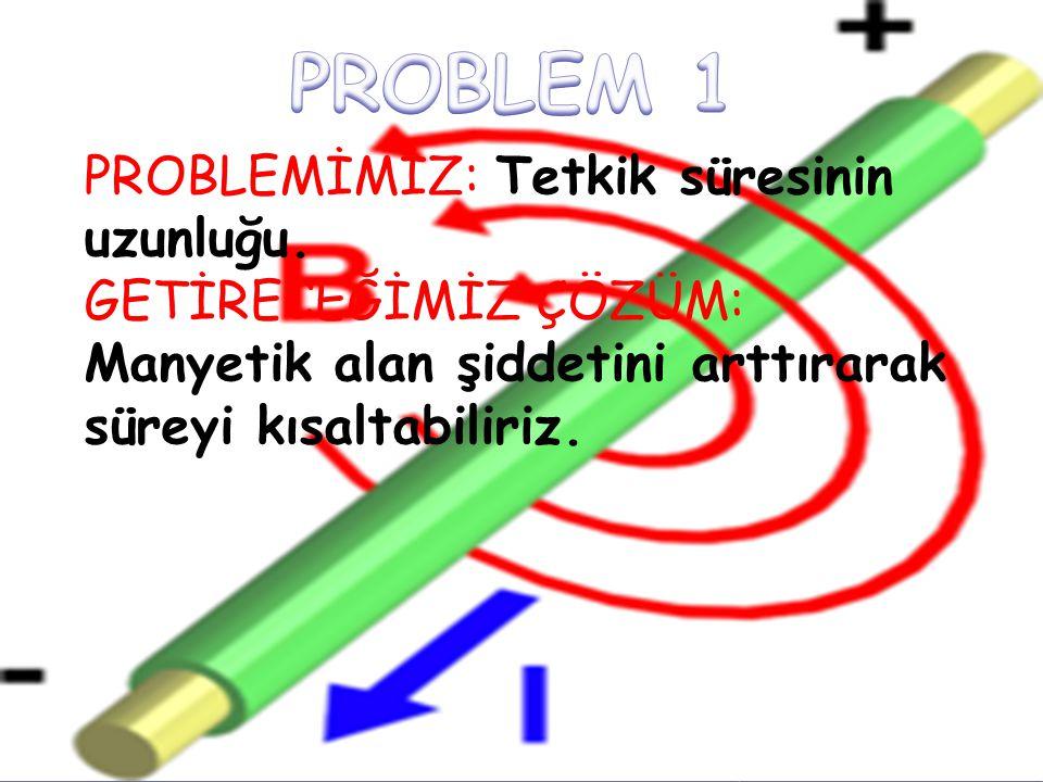 PROBLEMİMİZ: Tetkik süresinin uzunluğu. GETİRECEĞİMİZ ÇÖZÜM: Manyetik alan şiddetini arttırarak süreyi kısaltabiliriz.