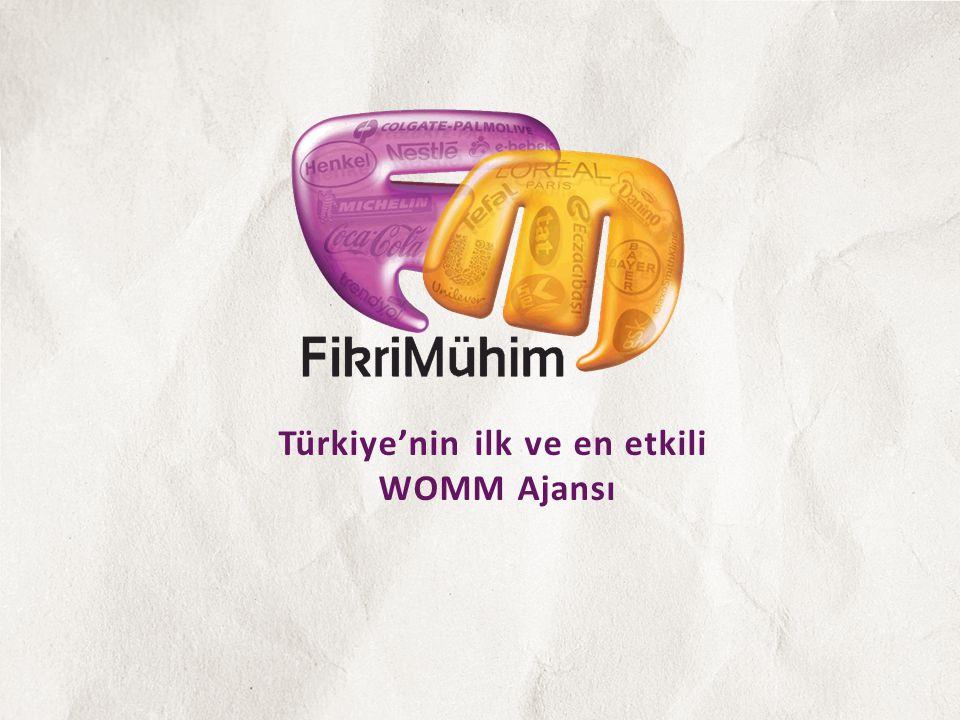 Türkiye'nin ilk ve en etkili WOMM Ajansı