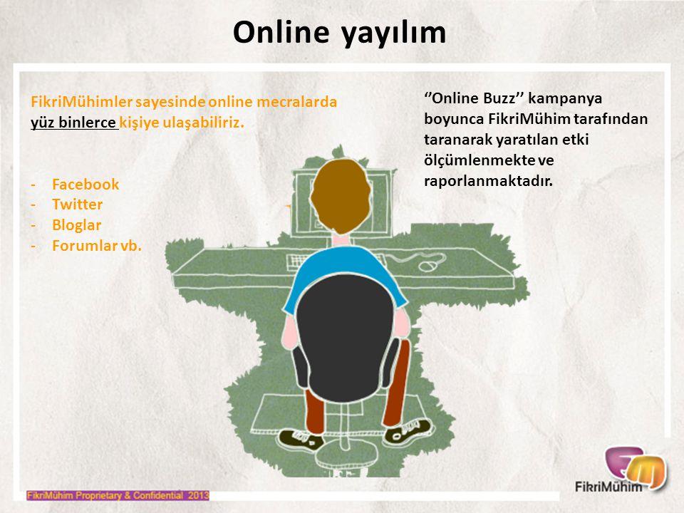 Online yayılım FikriMühimler sayesinde online mecralarda yüz binlerce kişiye ulaşabiliriz.