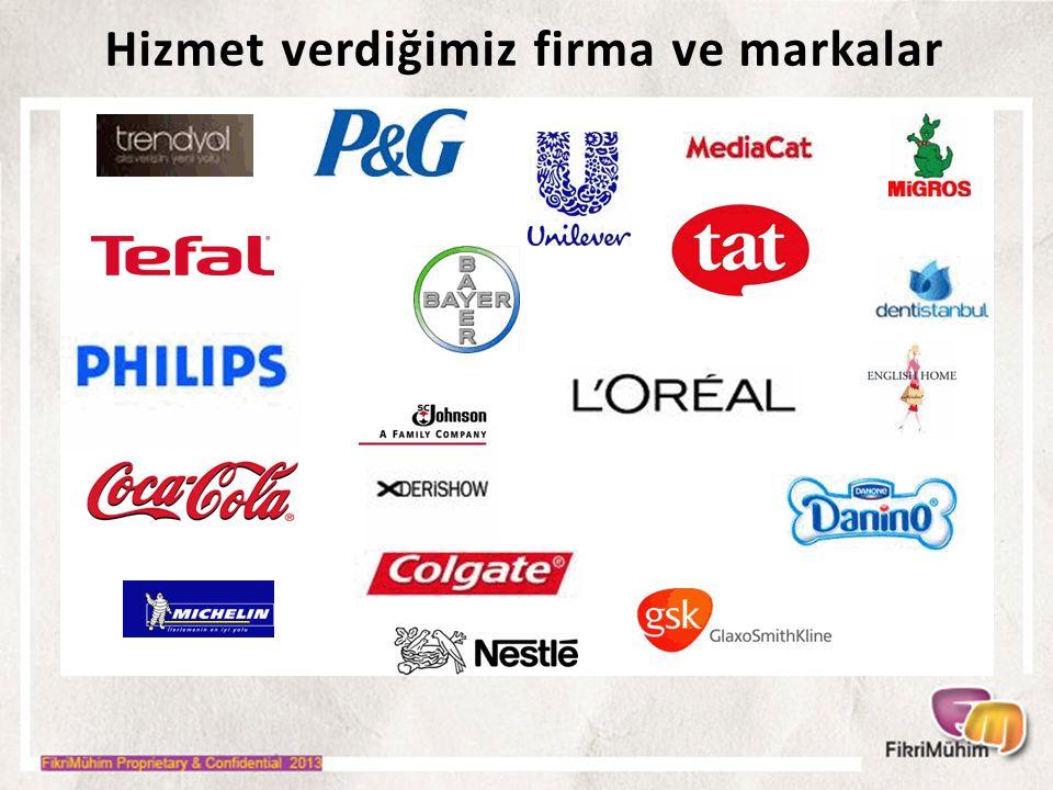 Hizmet verdiğimiz firma ve markalar