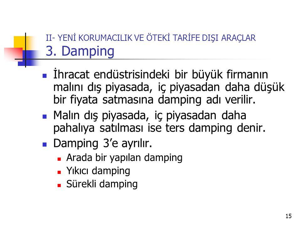 15 II- YENİ KORUMACILIK VE ÖTEKİ TARİFE DIŞI ARAÇLAR 3.