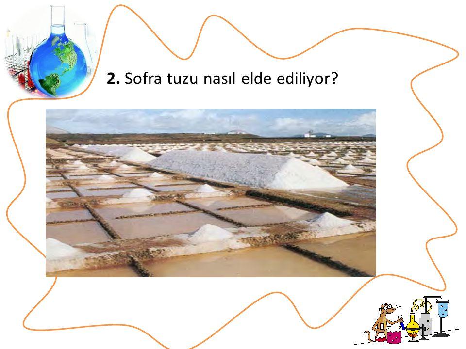 2. Sofra tuzu nasıl elde ediliyor?