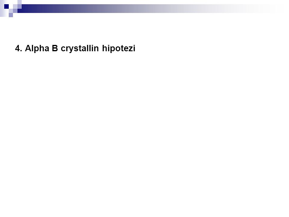 4. Alpha B crystallin hipotezi