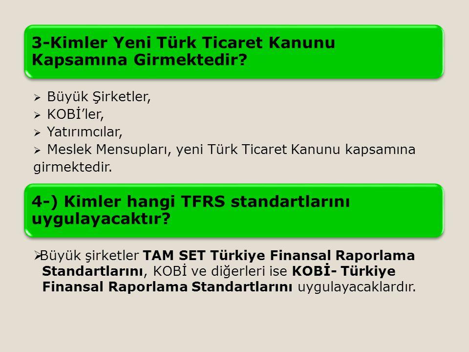 3-Kimler Yeni Türk Ticaret Kanunu Kapsamına Girmektedir.