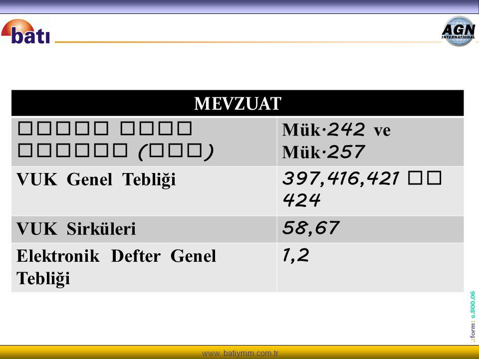 www. batiymm.com.tr KOLAYLIK ZORUNLULUĞA DÖNÜŞTÜ.: form : s.800.06