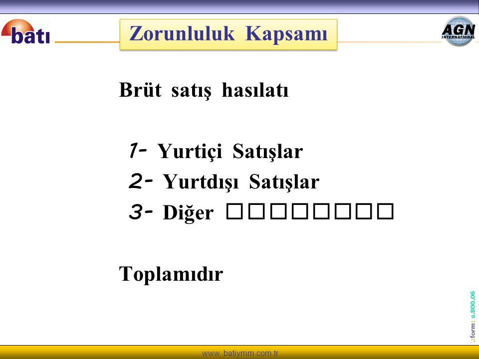 www.batiymm.com.tr.: form : s.800.06 e - Defter Başvuru e - defter tutacak mükelleflerin www.