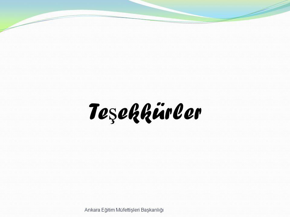 Te ş ekkürler Ankara Eğitim Müfettişleri Başkanlığı