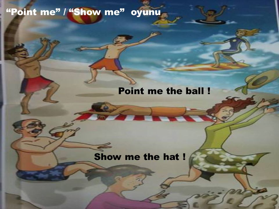 """Point me"" / ""Show me"" oyunu Show me the hat ! Point me the ball !"