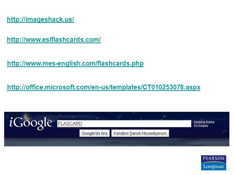 http://imageshack.us/ http://www.eslflashcards.com/ http://www.mes-english.com/flashcards.php http://office.microsoft.com/en-us/templates/CT010253078.aspx