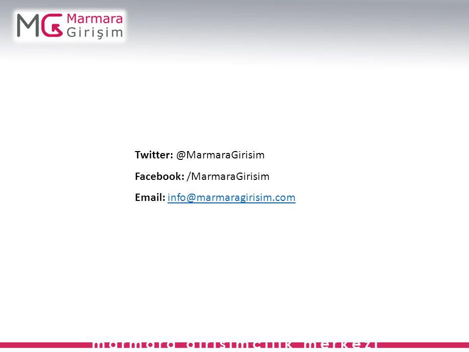 Twitter: @MarmaraGirisim Facebook: /MarmaraGirisim Email: info@marmaragirisim.cominfo@marmaragirisim.com