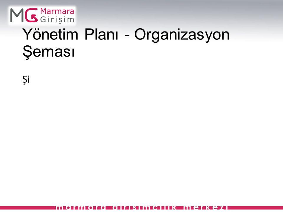 Yönetim Planı - Organizasyon Şeması Şi