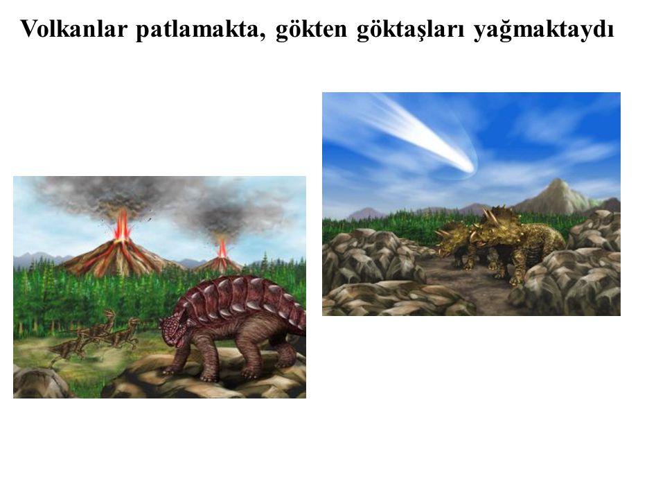 Volkanlar patlamakta, gökten göktaşları yağmaktaydı