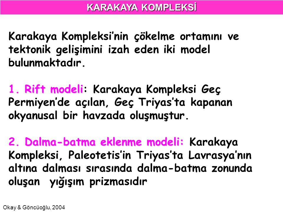 Okay & Göncüoğlu, 2004 Karakaya Kompleksi'nin çökelme ortamını ve tektonik gelişimini izah eden iki model bulunmaktadır. Rift modeli 1. Rift modeli: K