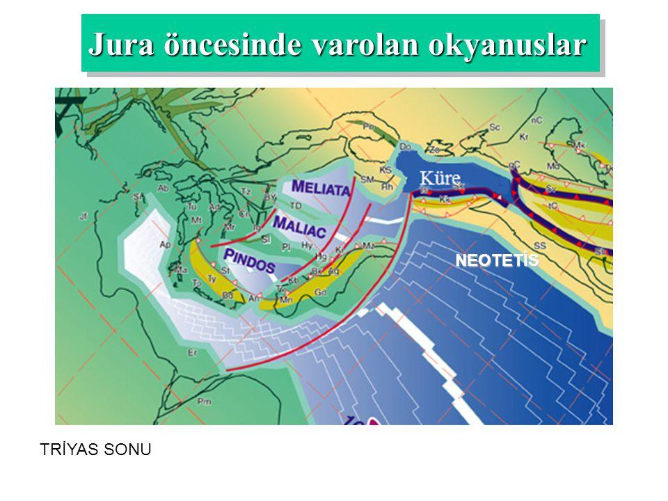 NEOTETİS TRİYAS SONU Jura öncesinde varolan okyanuslar