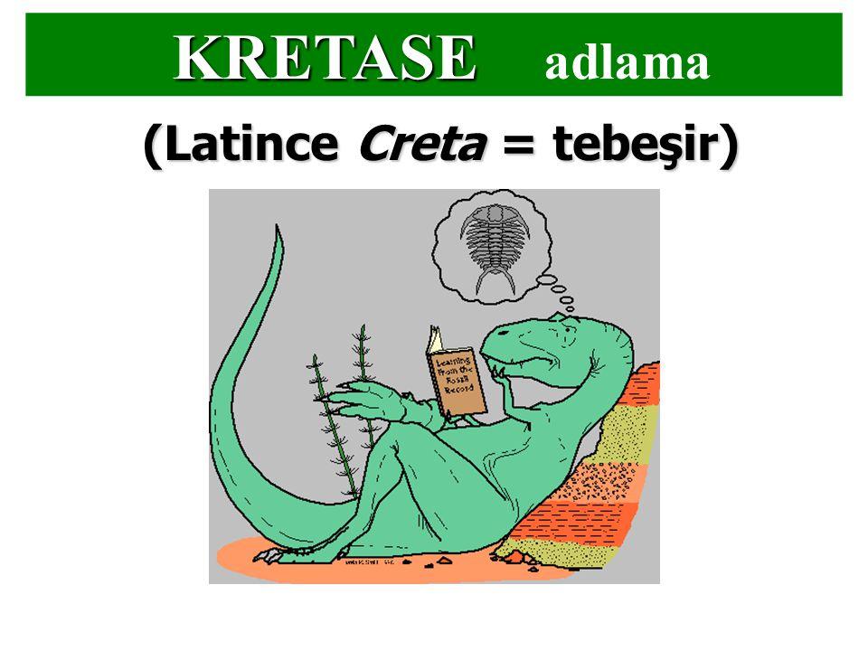 KRETASE KRETASE adlama (Latince Creta = tebeşir)