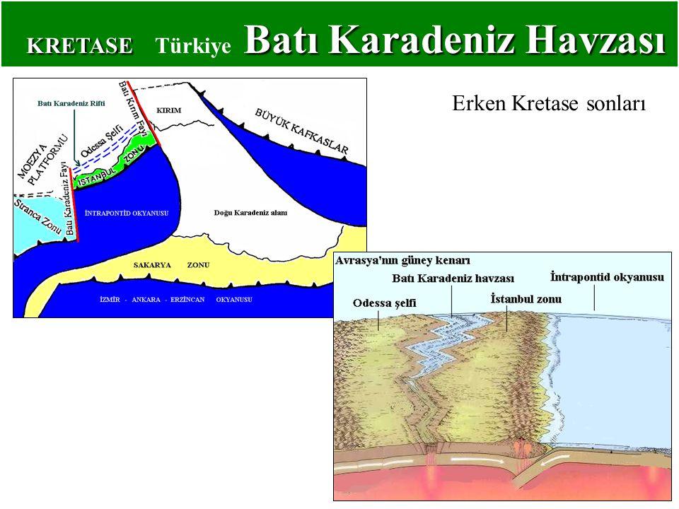 KRETASE Batı Karadeniz Havzası KRETASE Türkiye Batı Karadeniz Havzası Erken Kretase sonları