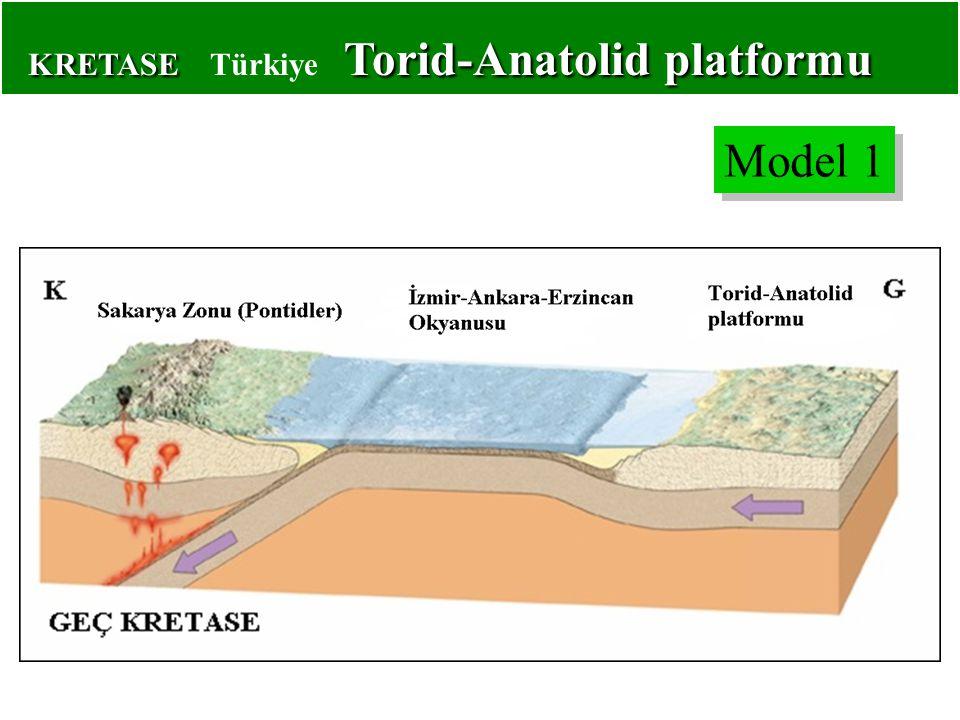KRETASE Torid-Anatolid platformu KRETASE Türkiye Torid-Anatolid platformu Model 1