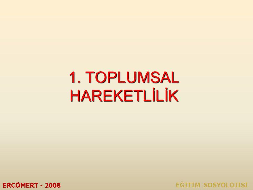 TOPLUM ve EĞİTİM ERCÖMERT - 2008 EĞİTİM SOSYOLOJİSİ ÜNİTE II