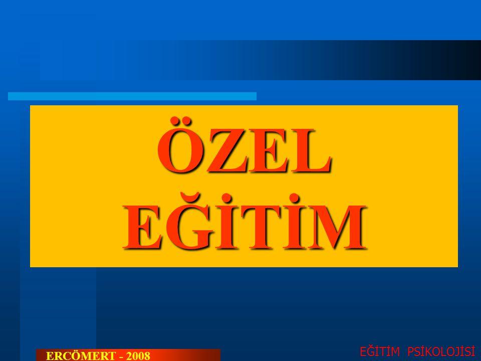 SOSYAL AÇIDAN ENGELLİLER EĞİTİM PSİKOLOJİSİ ERCÖMERT - 2008