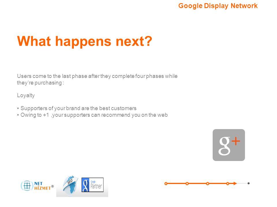 Hedefleme seçeneğiniz.Google Görüntülü Reklam Ağı What happens next.