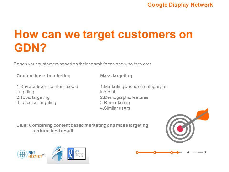 Hedefleme seçeneğiniz.Google Görüntülü Reklam Ağı How can we target customers on GDN.