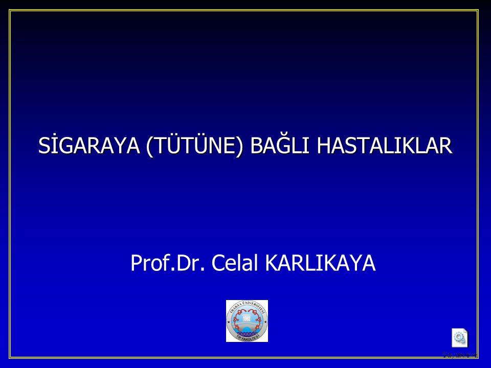 SİGARAYA (TÜTÜNE) BAĞLI HASTALIKLAR Prof.Dr. Celal KARLIKAYA