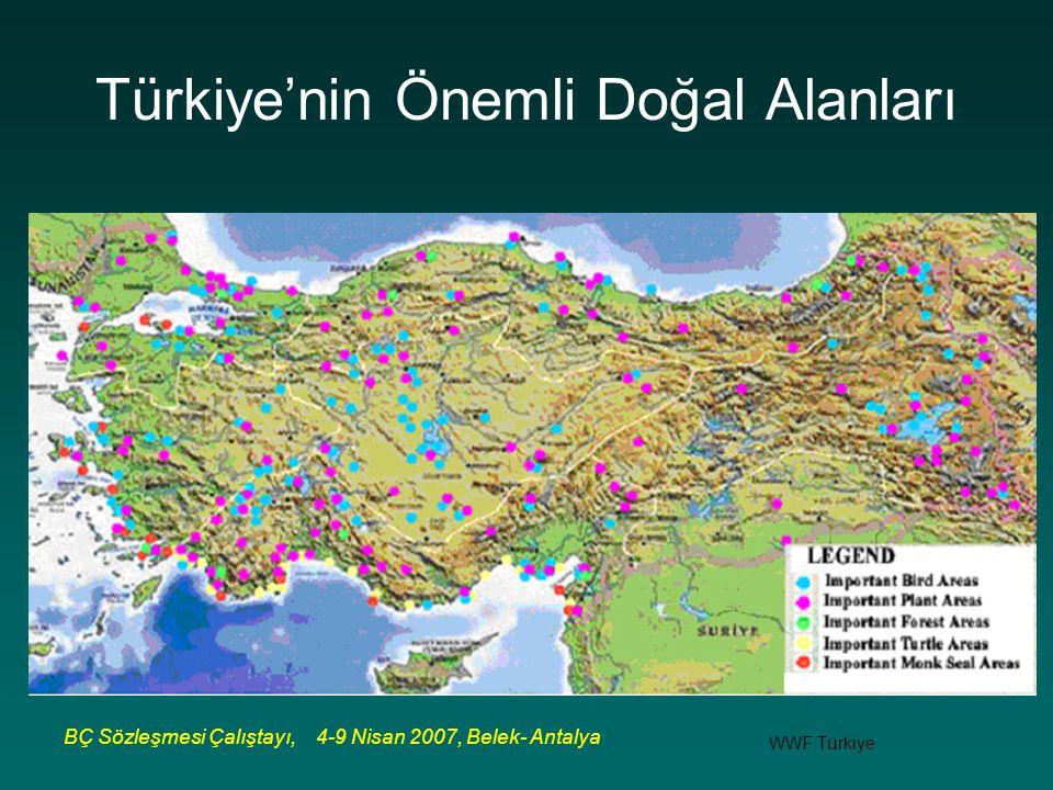 BÇ Sözleşmesi Çalıştayı, 4-9 Nisan 2007, Belek- Antalya Türkiye'nin Önemli Doğal Alanları WWF Türkiye