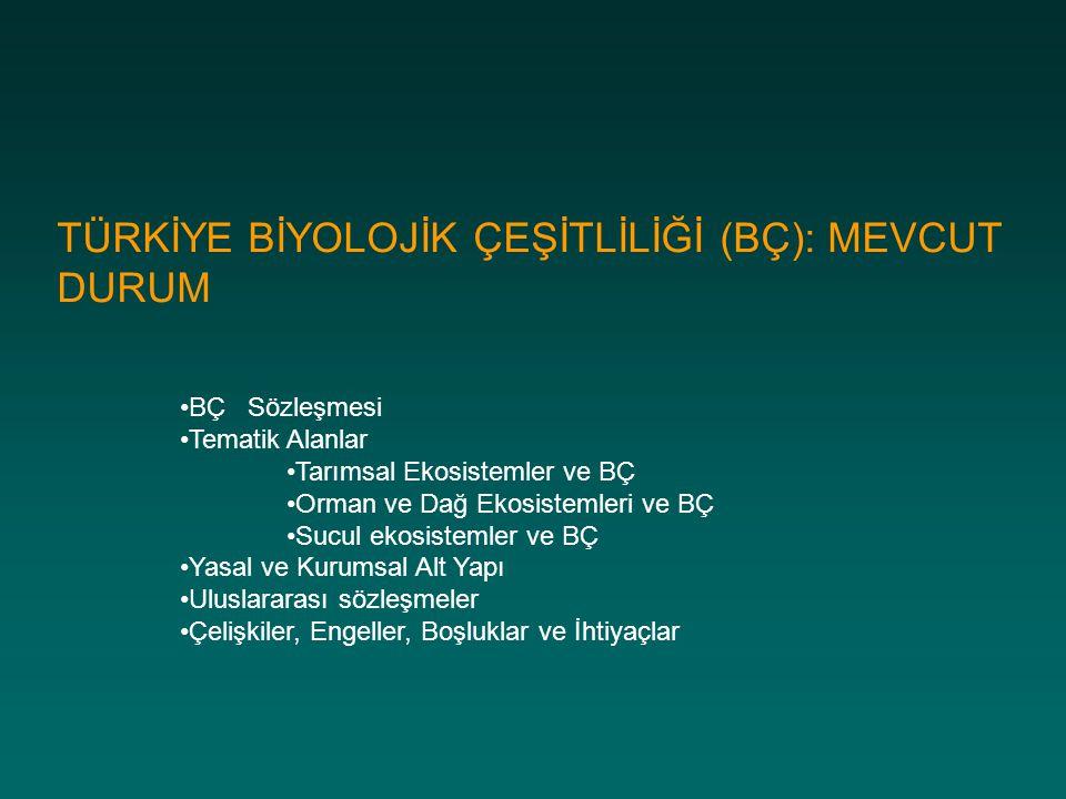 Tarımsal BÇ Tarla Bitkileri: Gen merkezinin Anadolu ve çevresi olduğu ya da Anadolu nun da çeşitlilik merkezleri arasında bulunduğu düşünülmektedir Tahıllar: Buğday türleri (Triticum spp., ve Aegilops gibi yabanıl akrabaları), Arpa (Hordeum vulgare ve H.