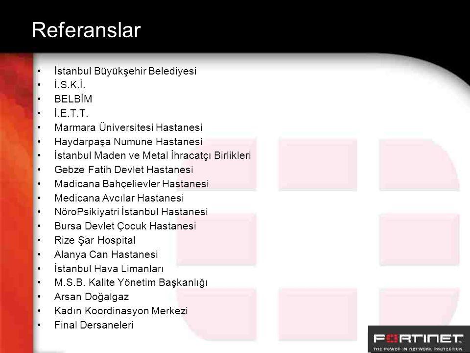 Referanslar İstanbul Büyükşehir Belediyesi İ.S.K.İ. BELBİM İ.E.T.T. Marmara Üniversitesi Hastanesi Haydarpaşa Numune Hastanesi İstanbul Maden ve Metal
