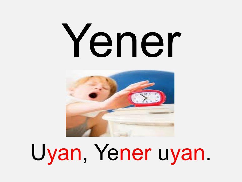 Yener Uyan, Yener uyan.