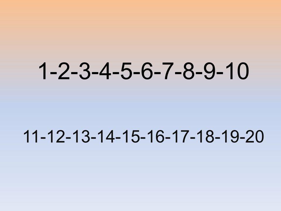 1-2-3-4-5-6-7-8-9-10 11-12-13-14-15-16-17-18-19-20