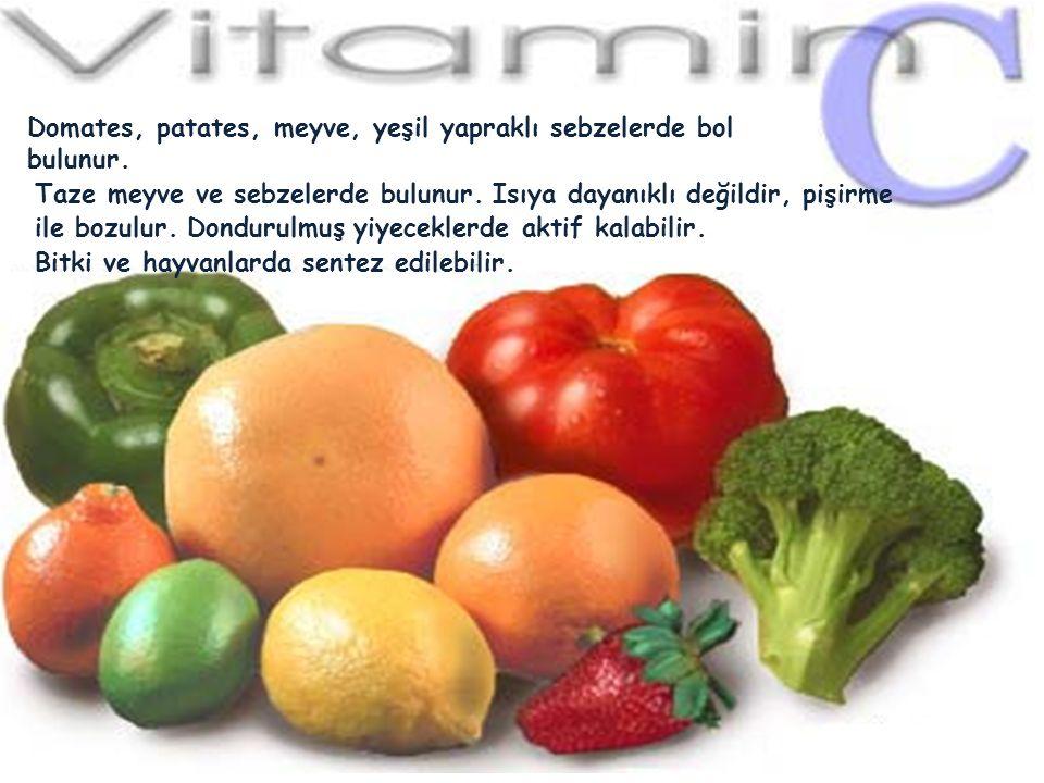 ASKORBİK ASİT (C VİTAMİNİ) C vitamininin aktif şekli askorbik asittir. Askorbatın en önemli fonksiyonu birçok reaksiyonda indirgeyici ajan olarak göre