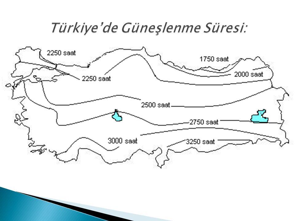 SORU- Aşağıdaki haritalarda, Türkiye de yıllık güneşlenme süreleri ile indirgenmiş yıllık ortalama sıcaklıkların dağılışı gösterilmiştir.