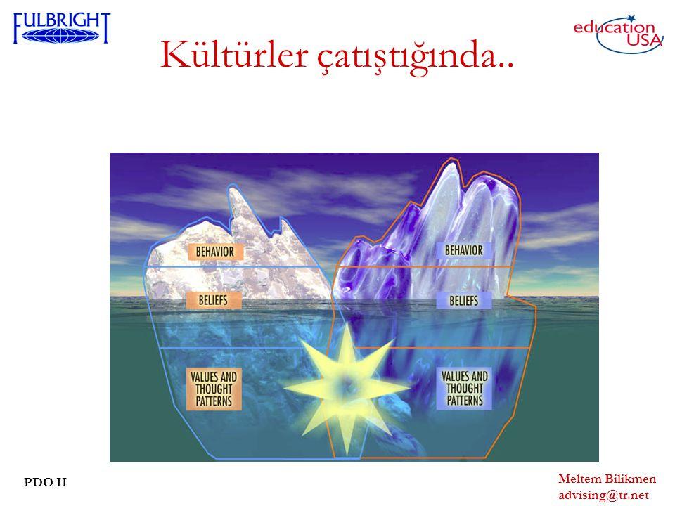 Meltem Bilikmen advising@tr.net PDO II Kültürler çatıştığında..