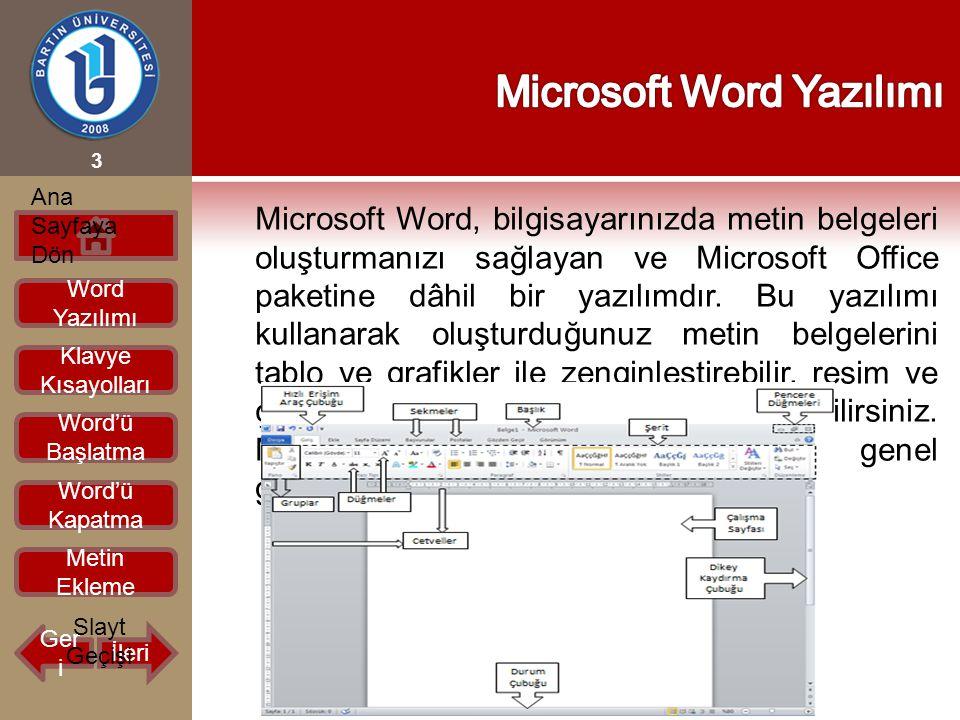 Microsoft Word, bilgisayarınızda metin belgeleri oluşturmanızı sağlayan ve Microsoft Office paketine dâhil bir yazılımdır. Bu yazılımı kullanarak oluş