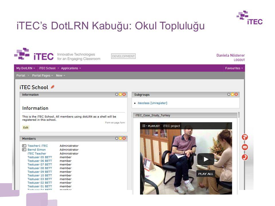 iTEC's DotLRN Kabuğu: Okul Topluluğu