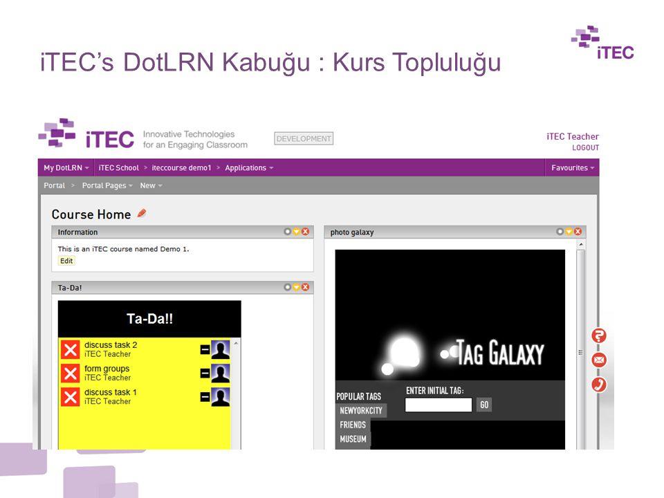 iTEC's DotLRN Kabuğu : Kurs Topluluğu