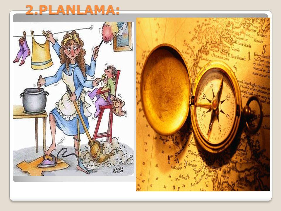 Plan, en geniş anlamı ile tutulacak yol ve davranış biçimidir (Balcı, 2005).