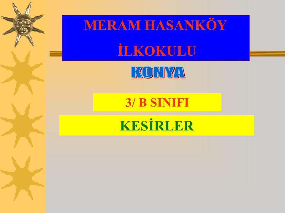 MERAM HASANKÖY İLKOKULU 3/ B SINIFI KESİRLER