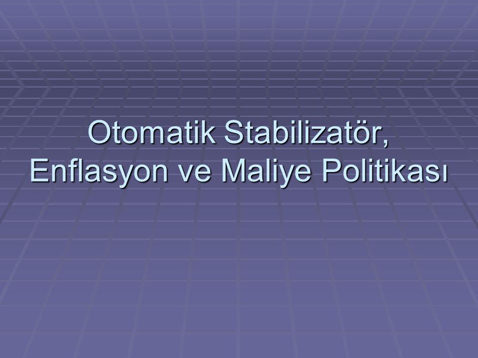 Otomatik Stabilizatör, Enflasyon ve Maliye Politikası