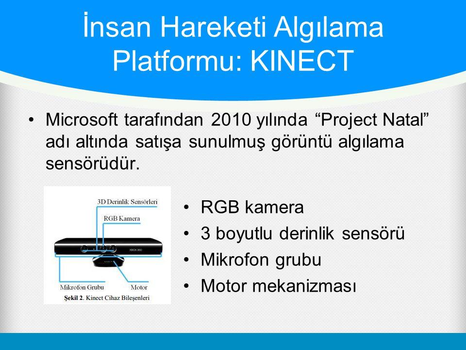 """İnsan Hareketi Algılama Platformu: KINECT Microsoft tarafından 2010 yılında """"Project Natal"""" adı altında satışa sunulmuş görüntü algılama sensörüdür. R"""