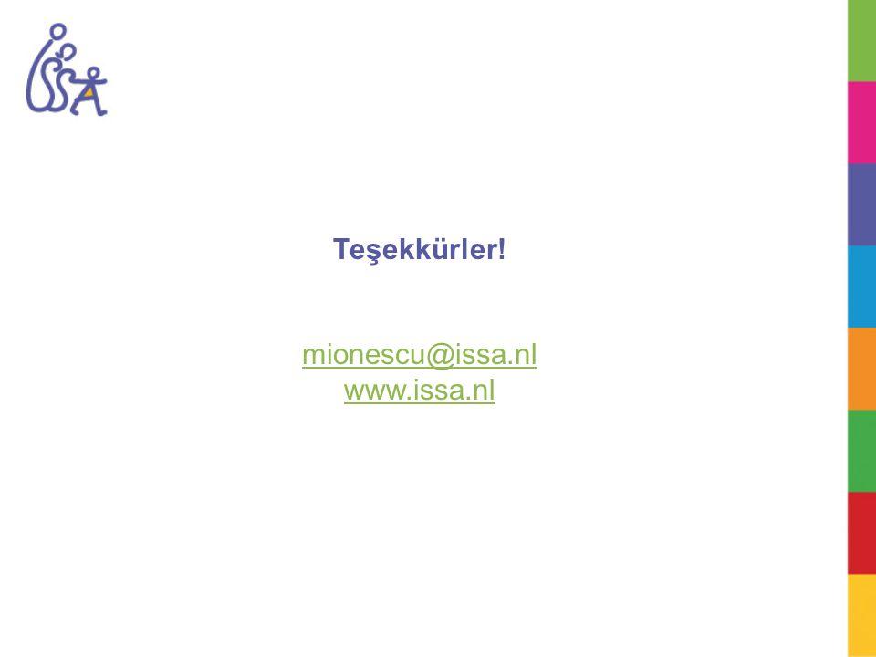Teşekkürler! mionescu@issa.nl www.issa.nl